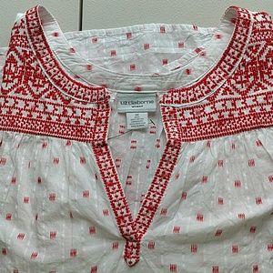 NWT!!! Liz Claiborne Pretty Embroidered Cotton Top